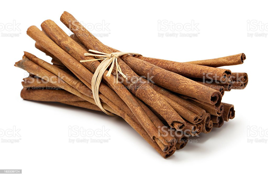 Cinnamon sticks bunch stock photo