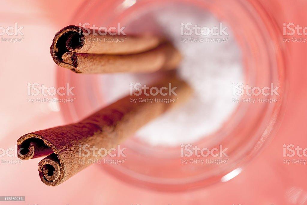 Cinnamon sticks closeup macro royalty-free stock photo