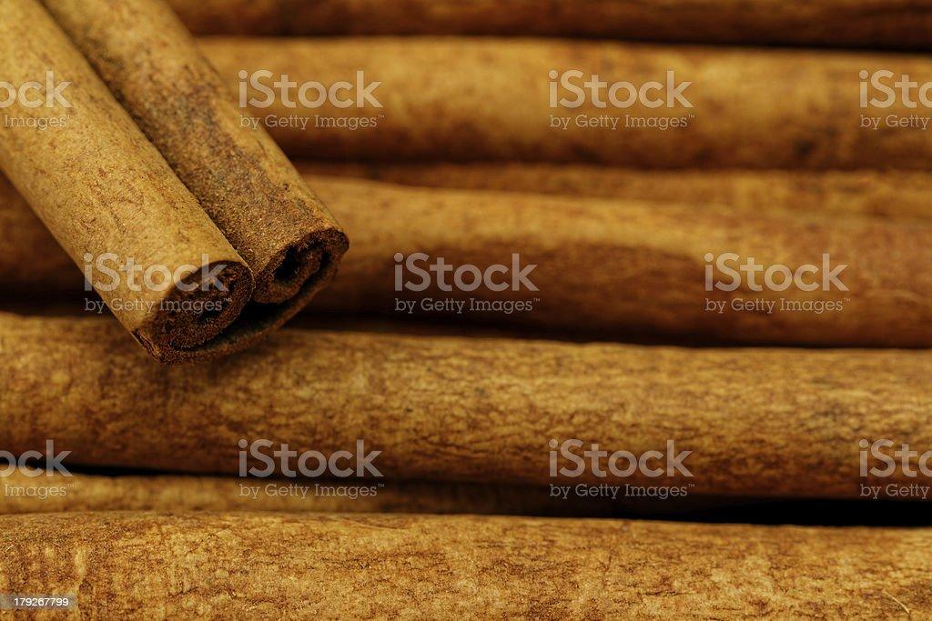 Cinnamon sticks closeup royalty-free stock photo