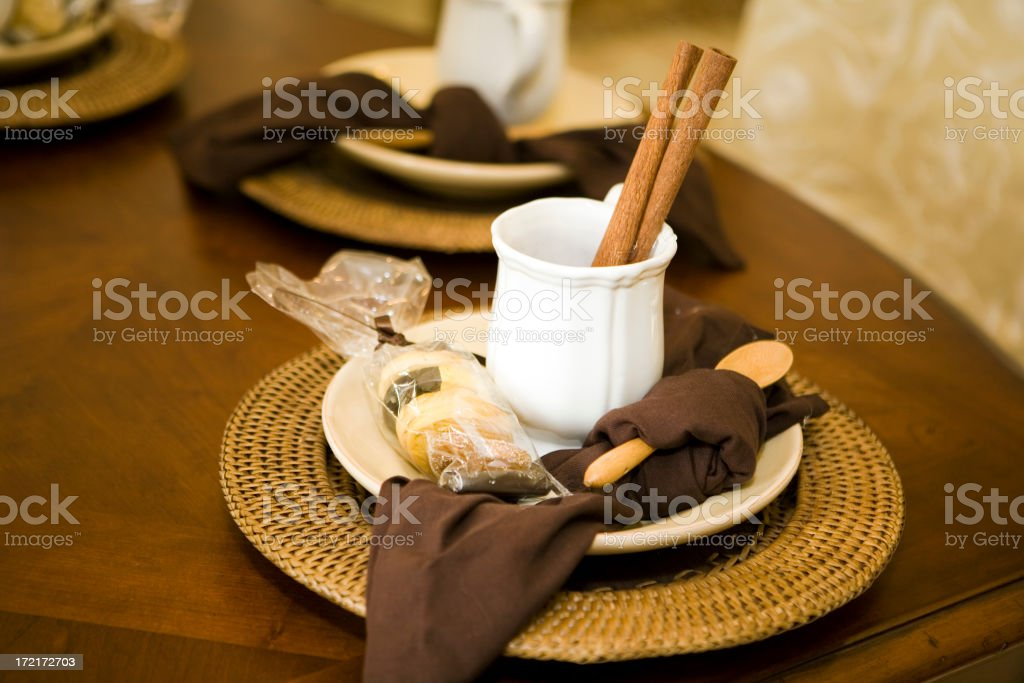 Cinnamon Sticks In A Mug (Landscape Orientation) royalty-free stock photo