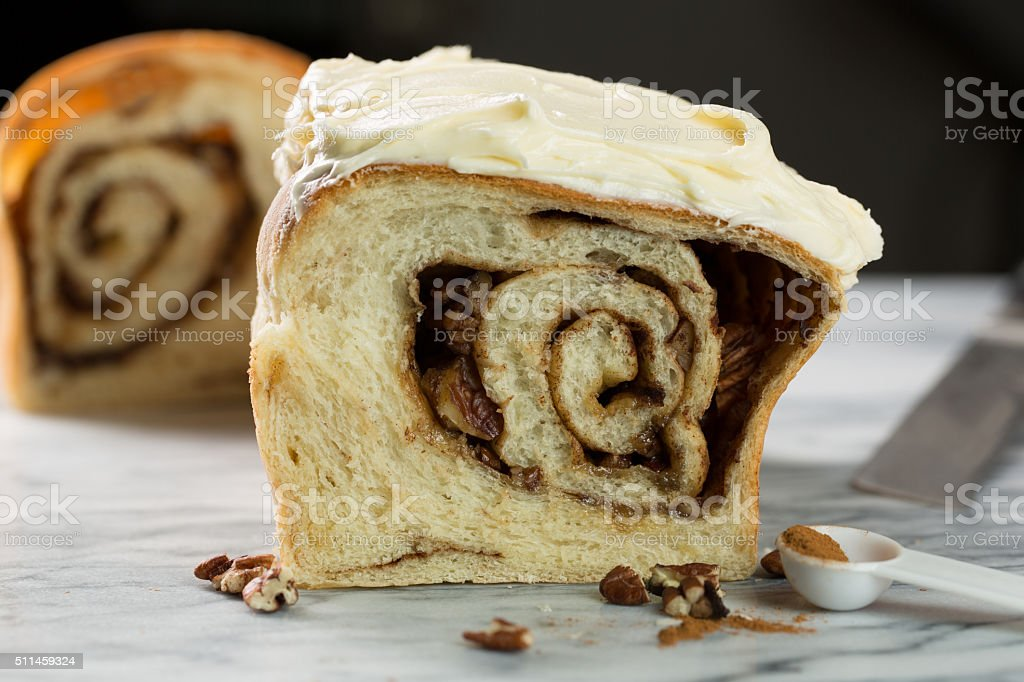 Cinnamon Swirl Bread stock photo