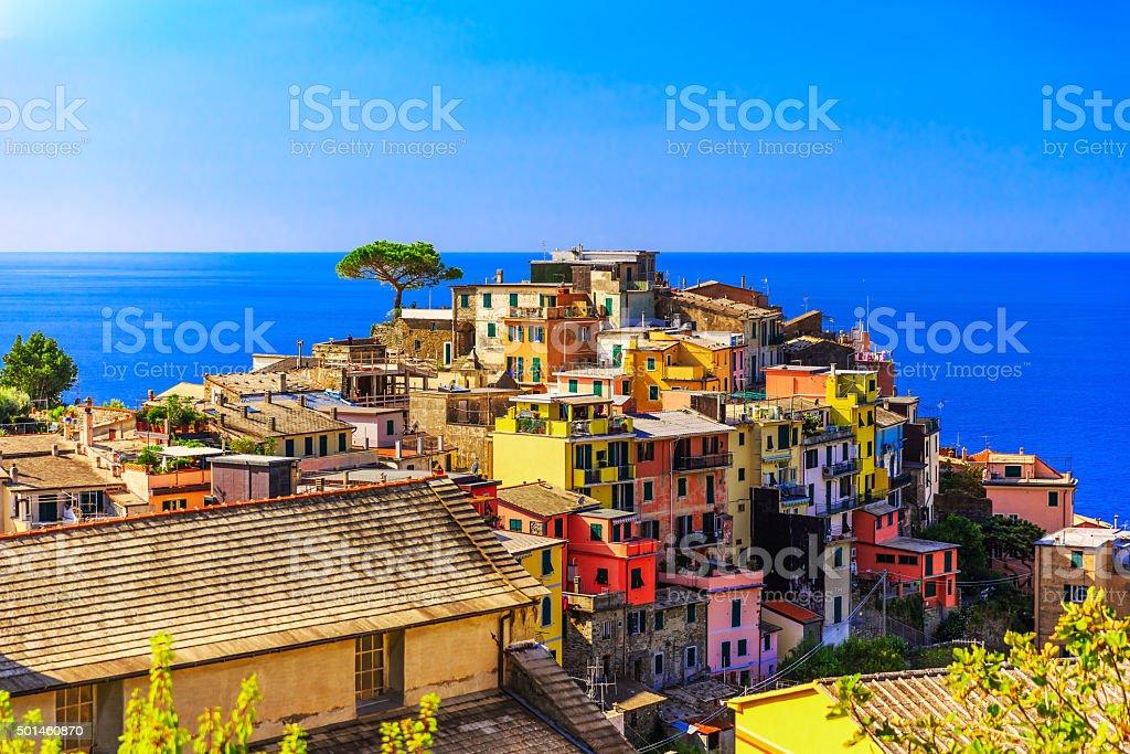 Cinque Terre, Corniglia. Italy stock photo