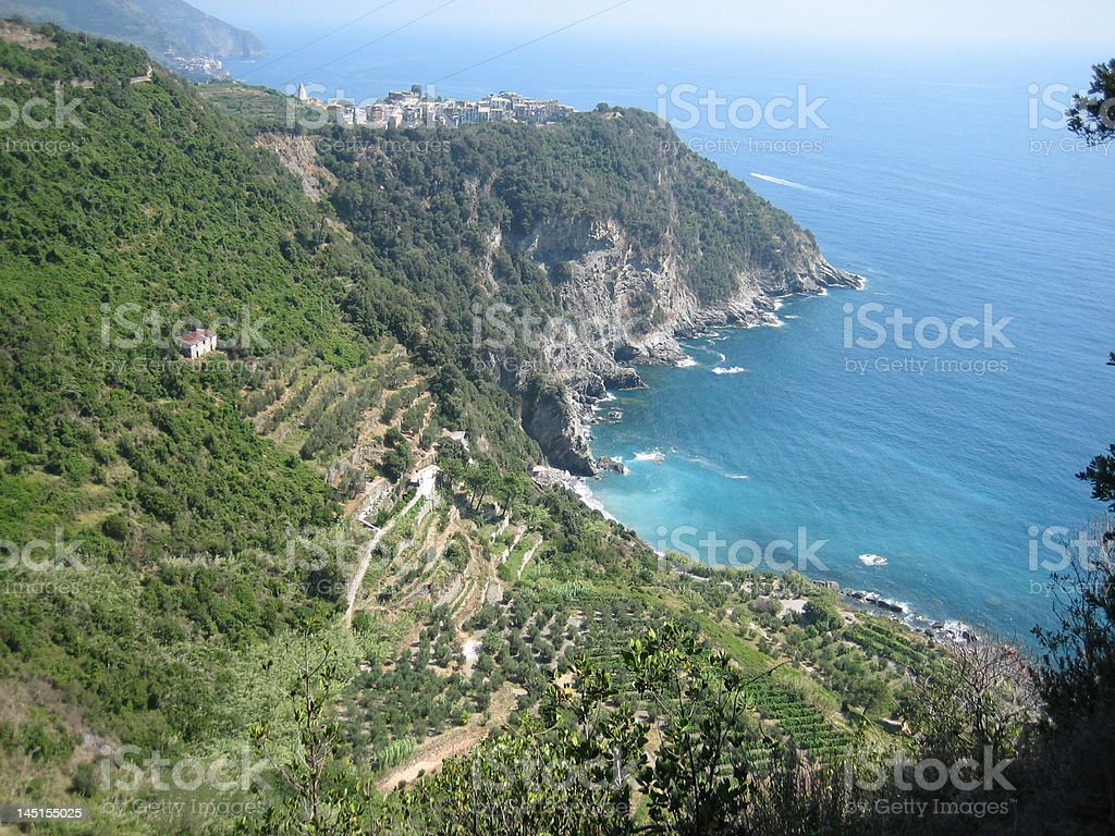Cinque Terre from above royalty-free stock photo