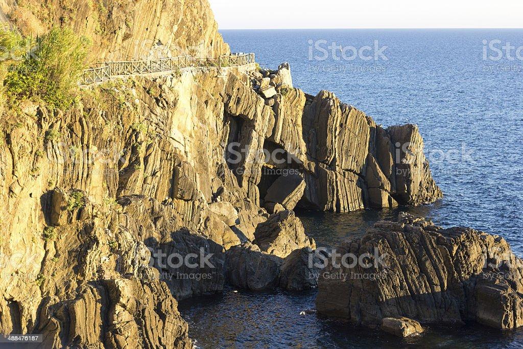 Cinque Terre in Liguria, Italy royalty-free stock photo