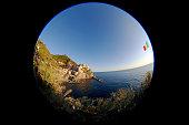 Cinque Terre, Italy, Manarola, fisheye