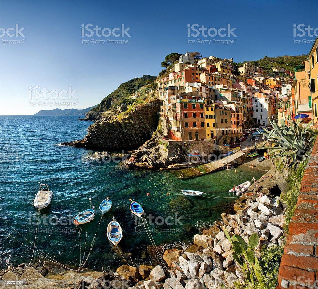 Cinque Terre, Italy - Riomaggiore stock photo