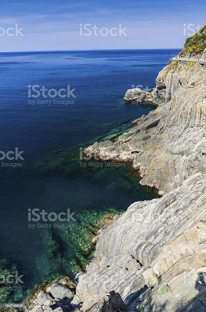 Cinque Terre, Mediterranean Sea royalty-free stock photo