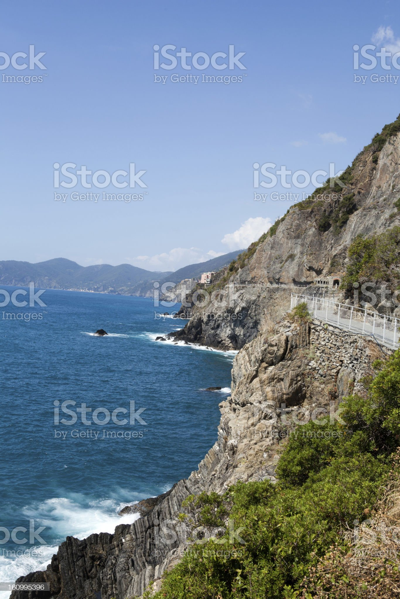 Cinque Terre - road of love.  Liguria royalty-free stock photo