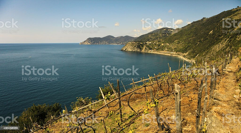 Cinque Terre Trekking stock photo