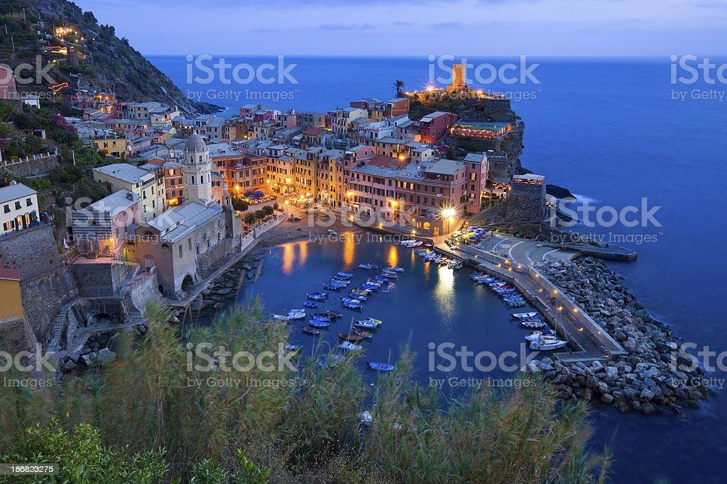 Cinque Terre, Vernazza, Liguria, Italy stock photo