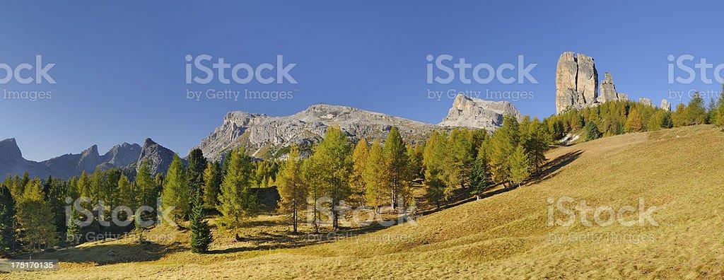 Cinque Torri (Dolomites - Italy) stock photo