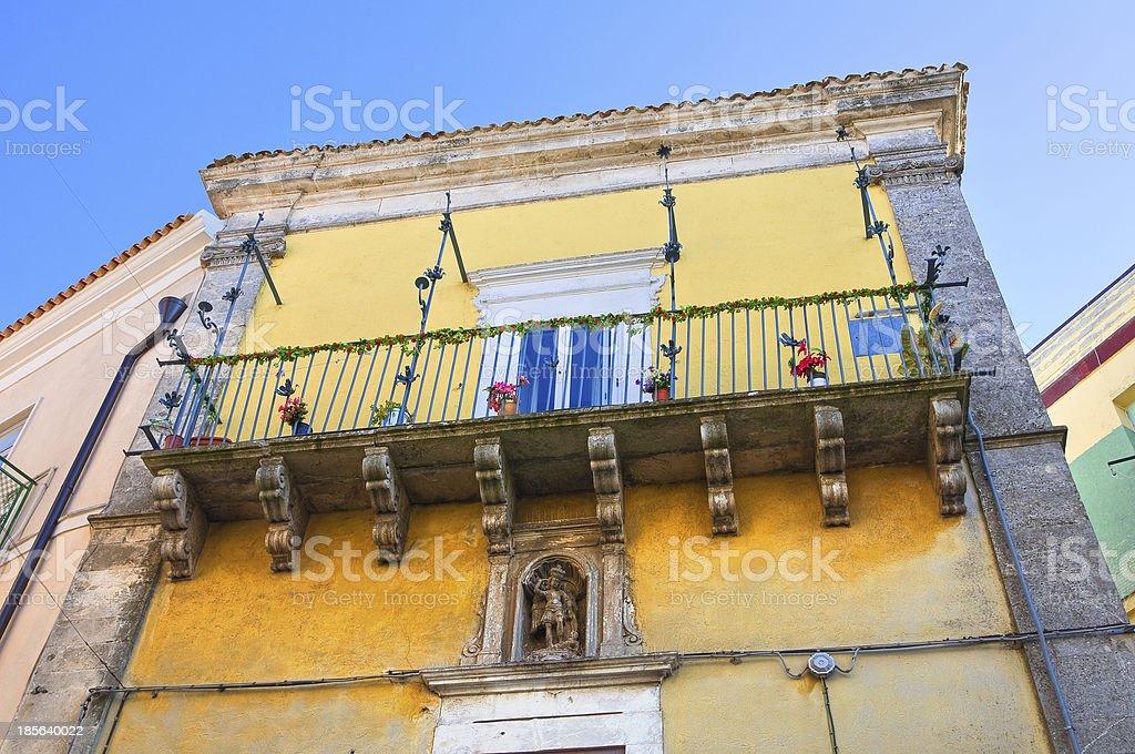 Ciociola palace. Monte Sant'Angelo. Puglia. Italy. royalty-free stock photo