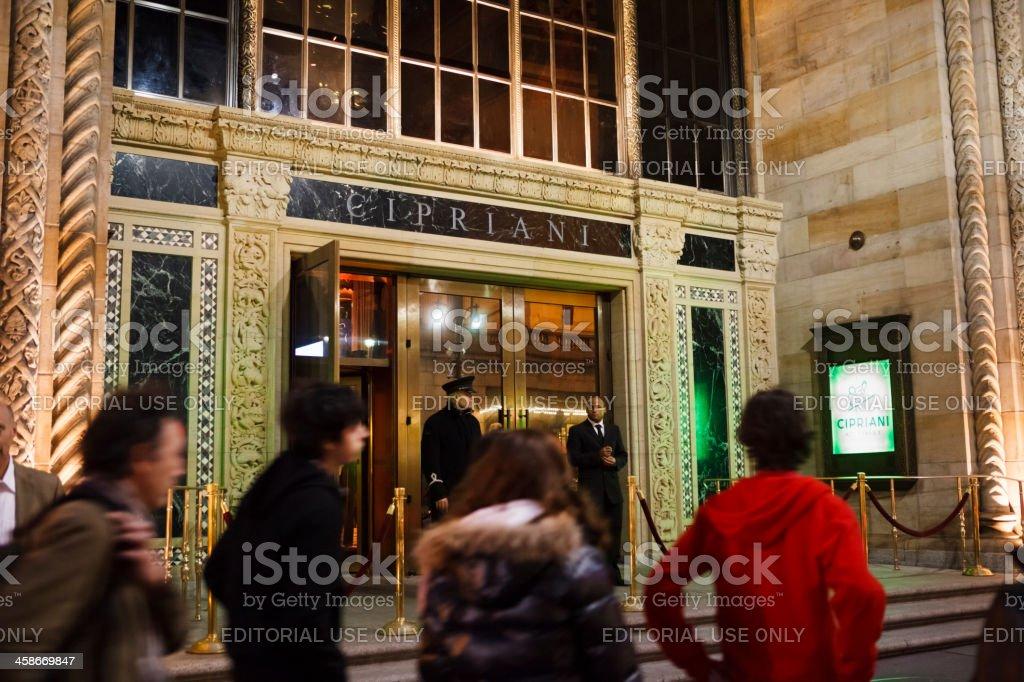 Cipriani Restaurant Manhattan stock photo