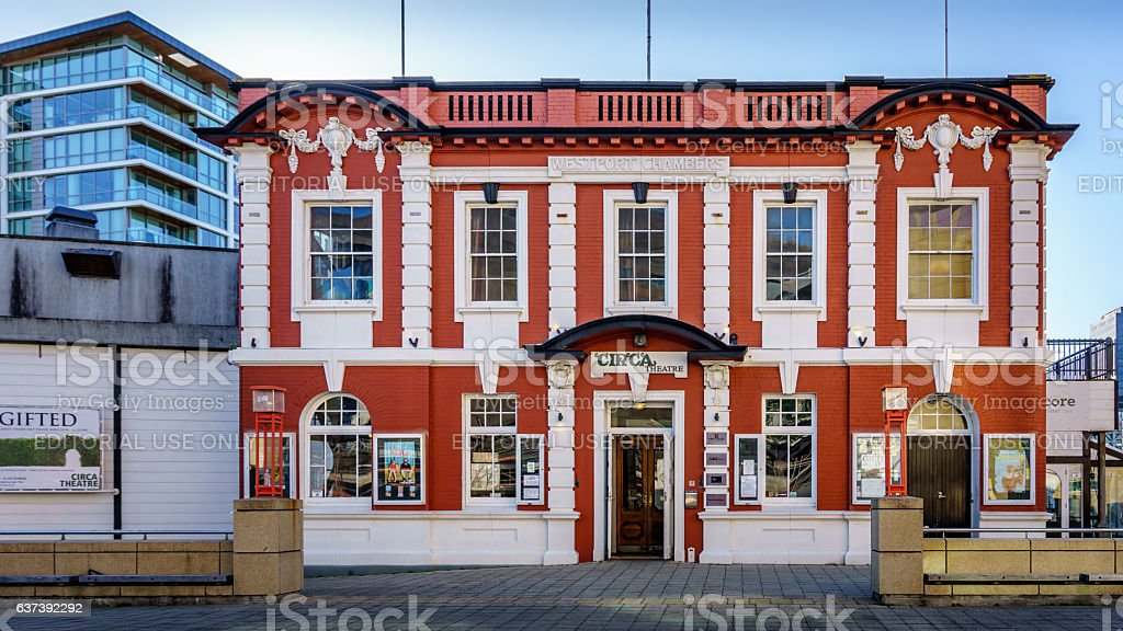 Circa Theatre building, Wellington, New Zealand stock photo