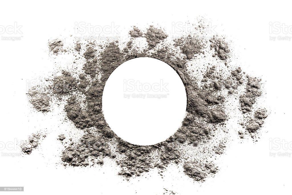 Circle and sun burst shape illustration made in ash stock photo