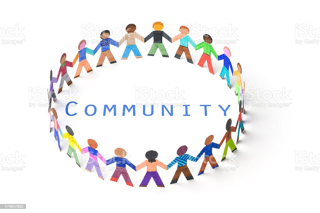 Circle around the word community royalty-free stock photo