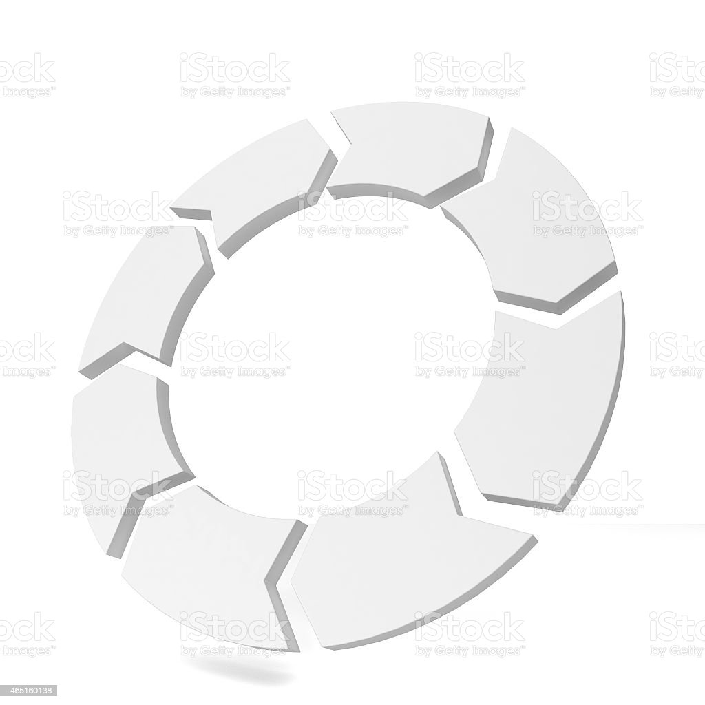 Circle arrow stock photo