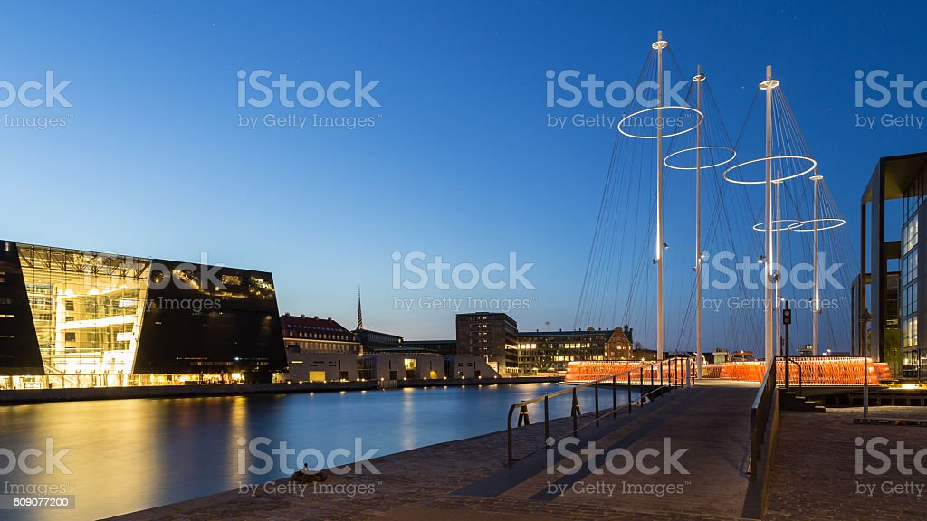 Circle Bridge and Royal Library, Copenhagen stock photo