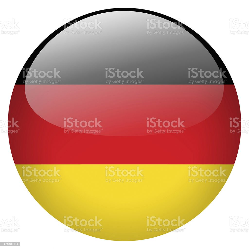 A circle button of Germany's flag vector art illustration