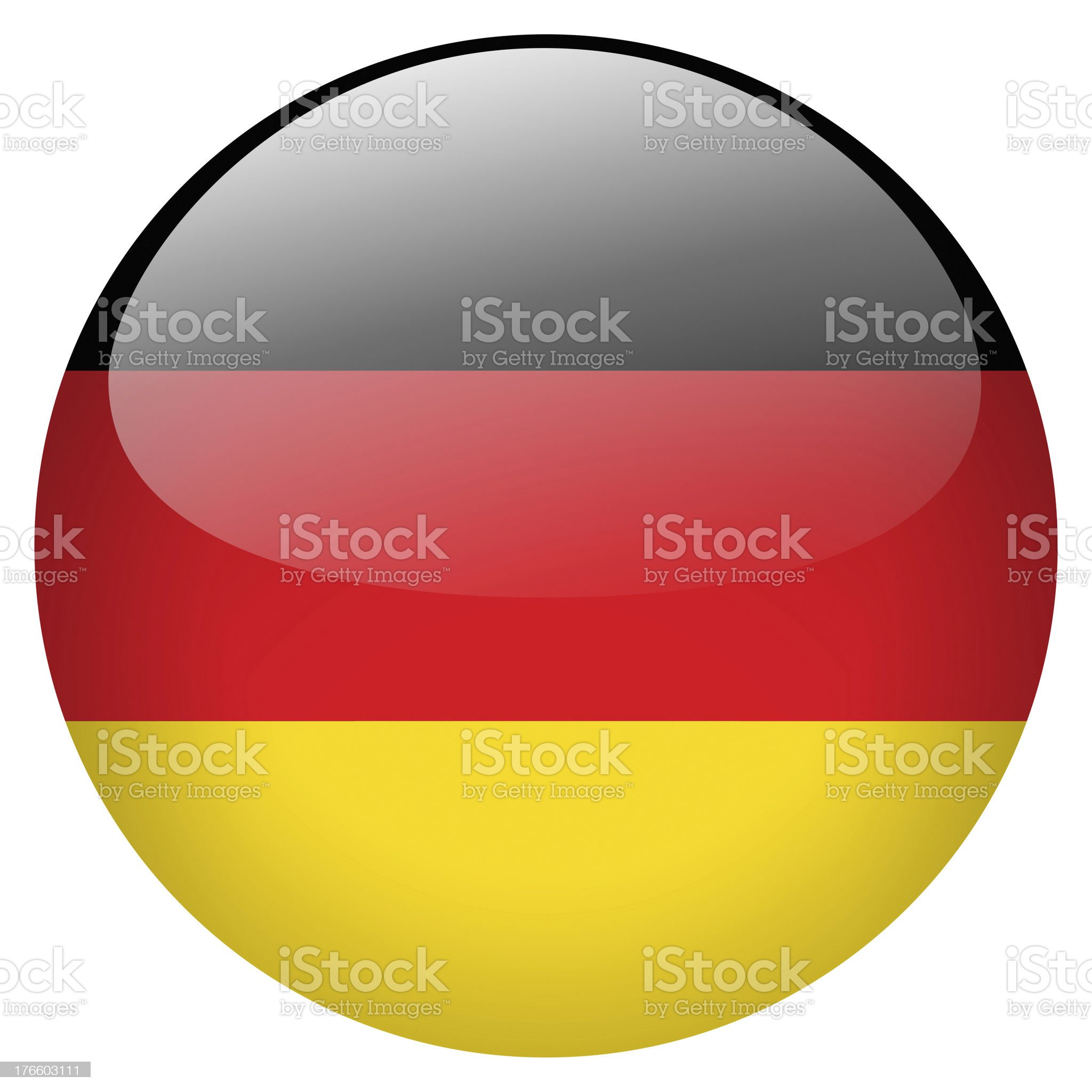 A circle button of Germany's flag royalty-free stock vector art