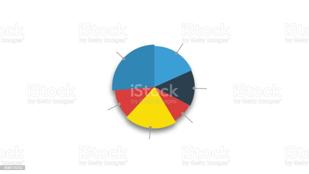 Circle diagram for presentation stock photo