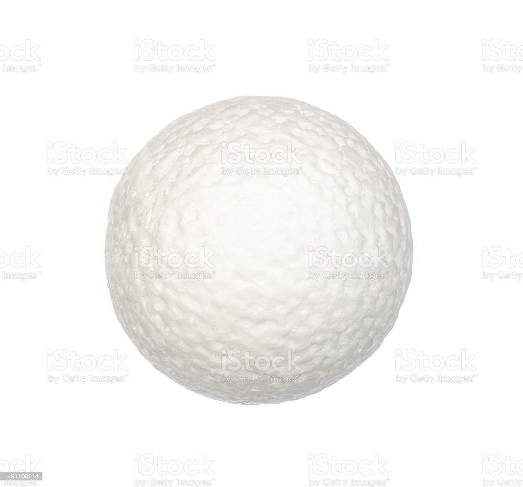 Circle foam isolated on white stock photo