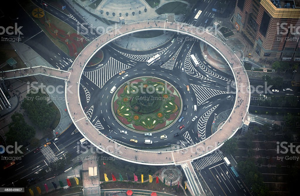 Circle footbridge in Shanghai,China.