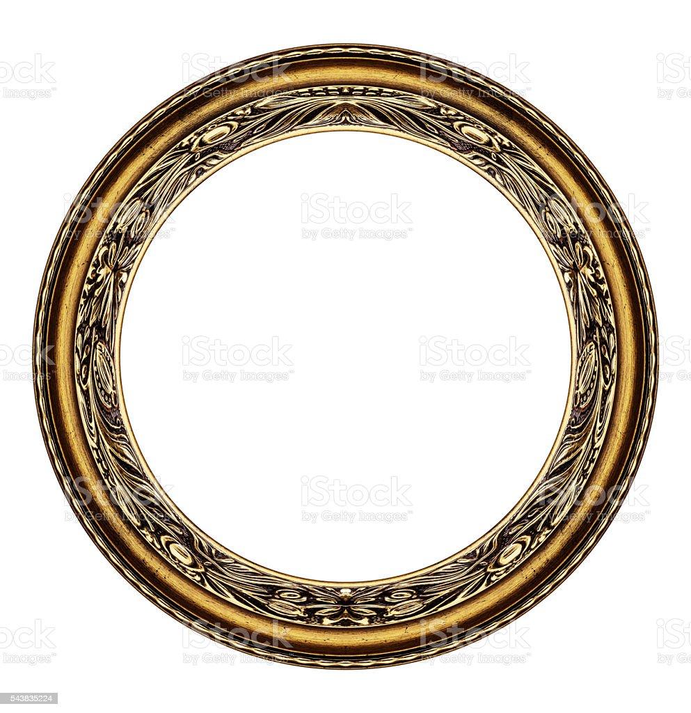 Circle frame isolated on white stock photo