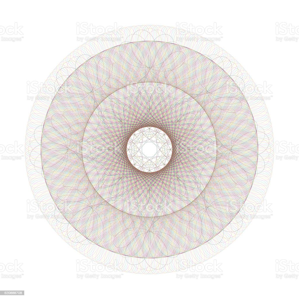 Circle guilloche pattern for certificate and other security docu stock photo