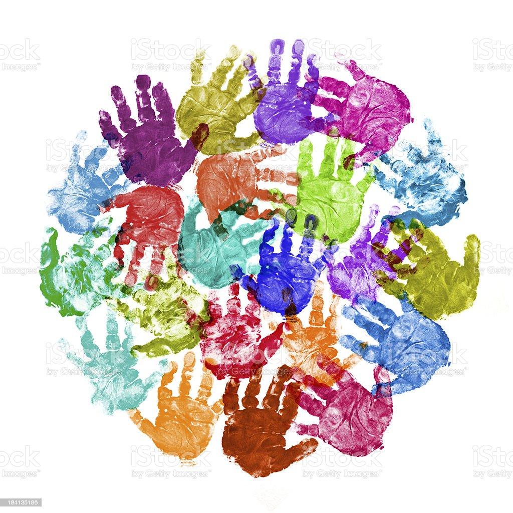 Circle of Baby Handprint royalty-free stock photo