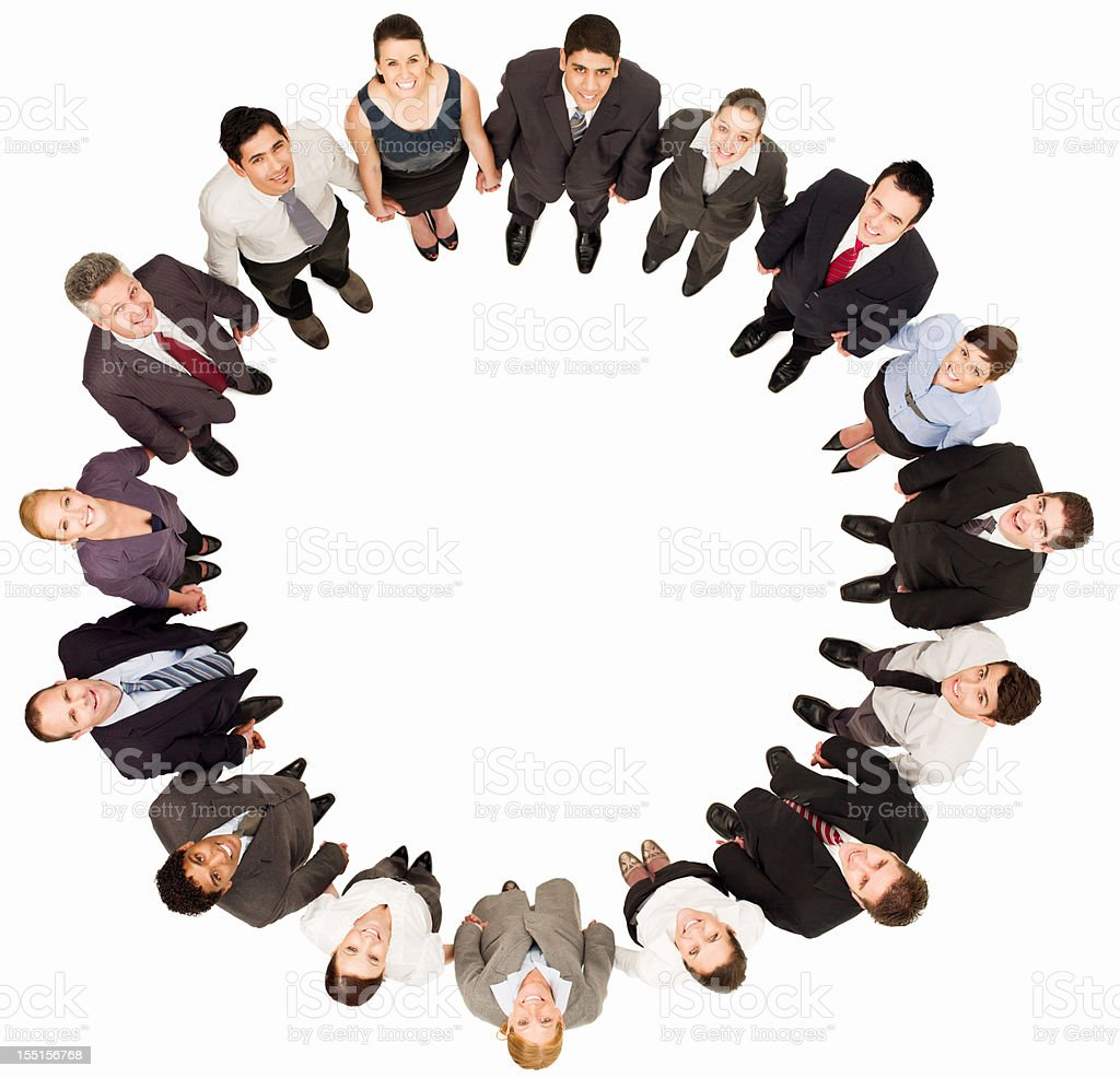 Circle of Businesspeople - Isolated royalty-free stock photo