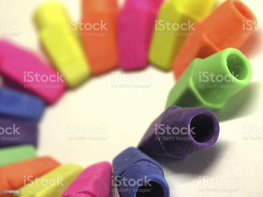 Circle of Erasers royalty-free stock photo