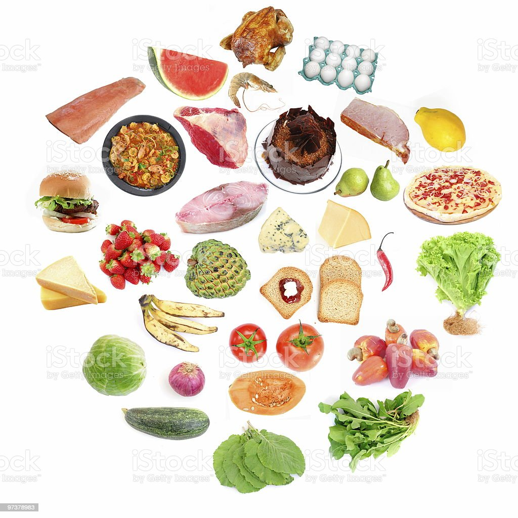 Circle of Food royalty-free stock photo
