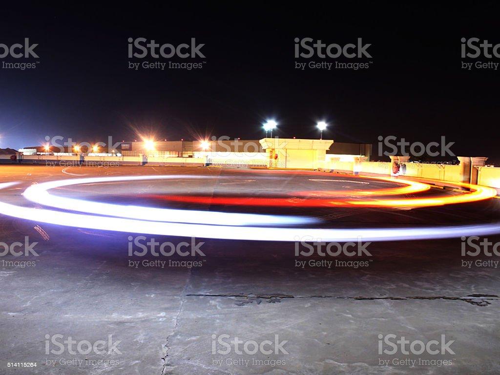 Circle of lights stock photo