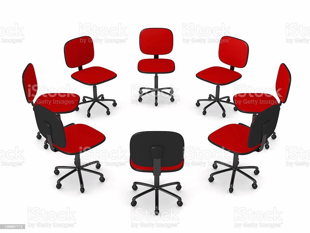 Circle of Office chairs royalty-free stock photo