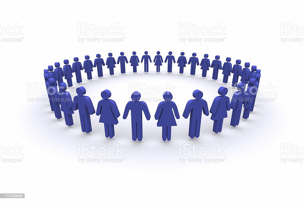 Circle of People royalty-free stock photo