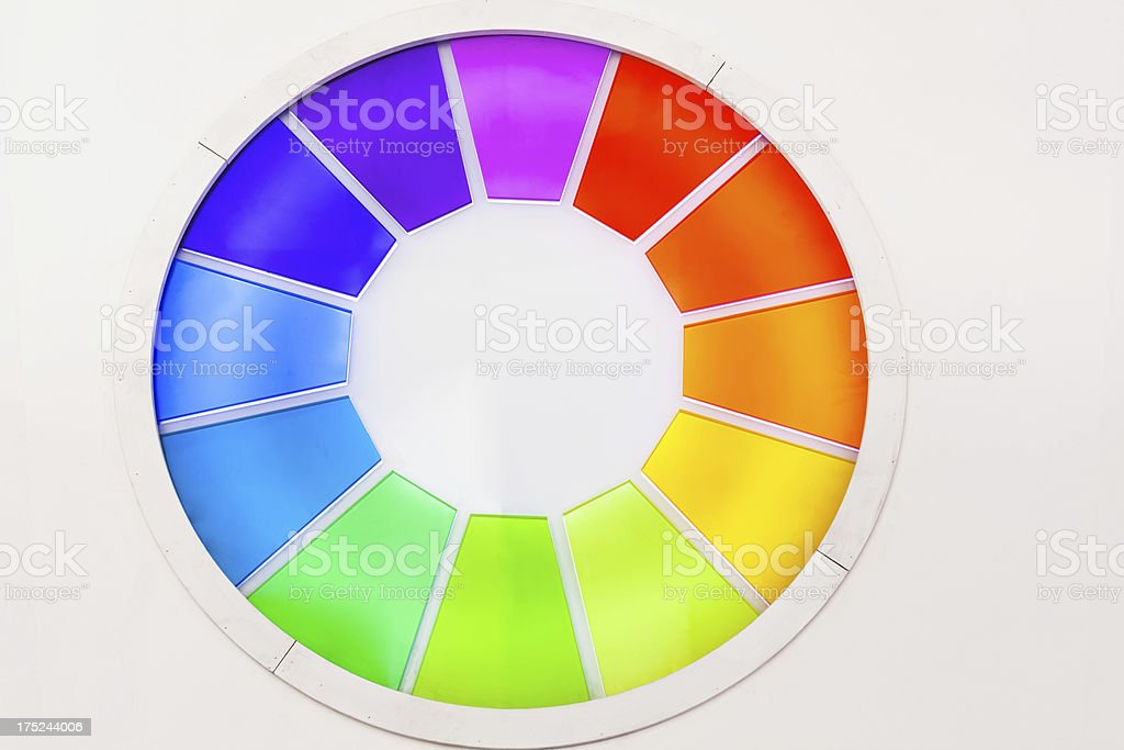 Circle of rainbow glass swatches royalty-free stock photo
