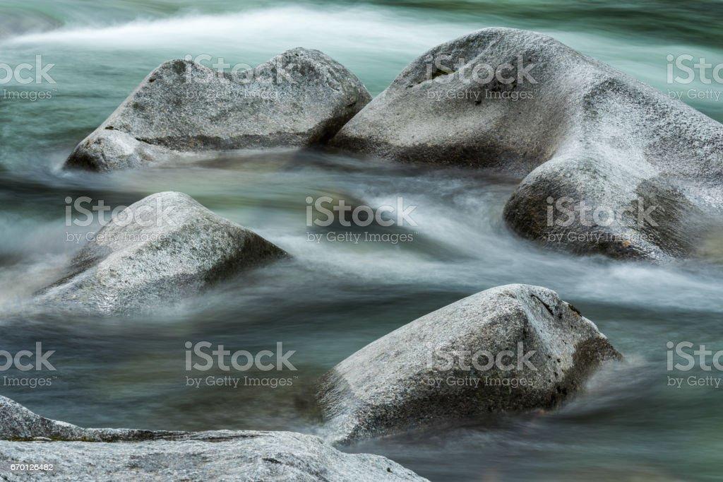 Circle of River Stone stock photo
