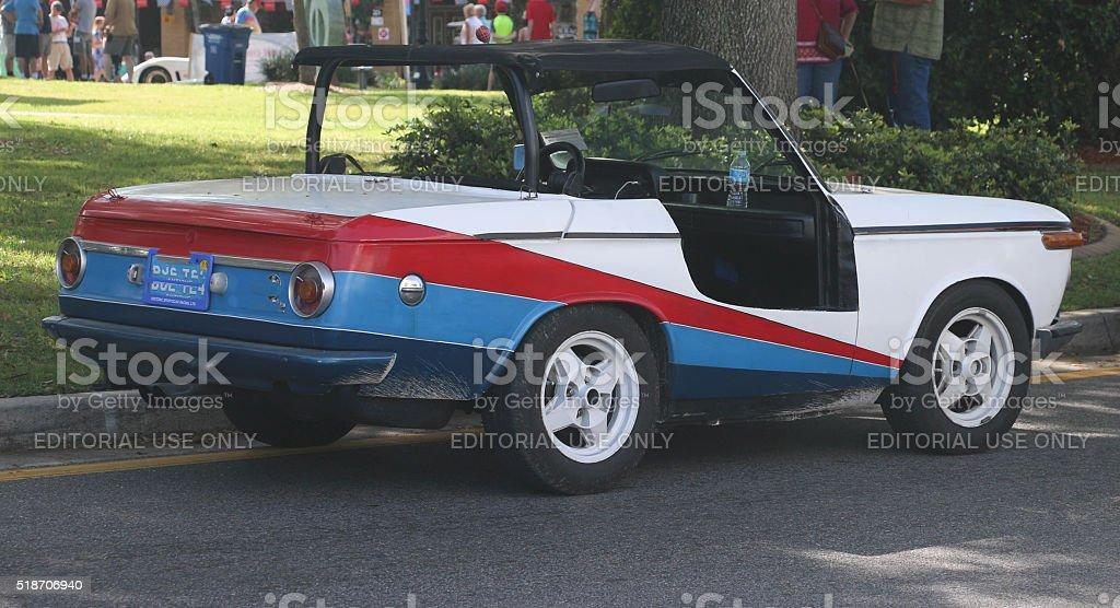 Circle of Speed - Vintage Racer stock photo