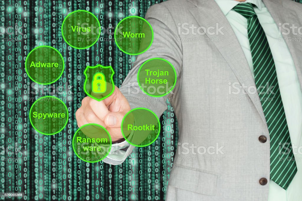 Circle of virus types explained by an expert stock photo