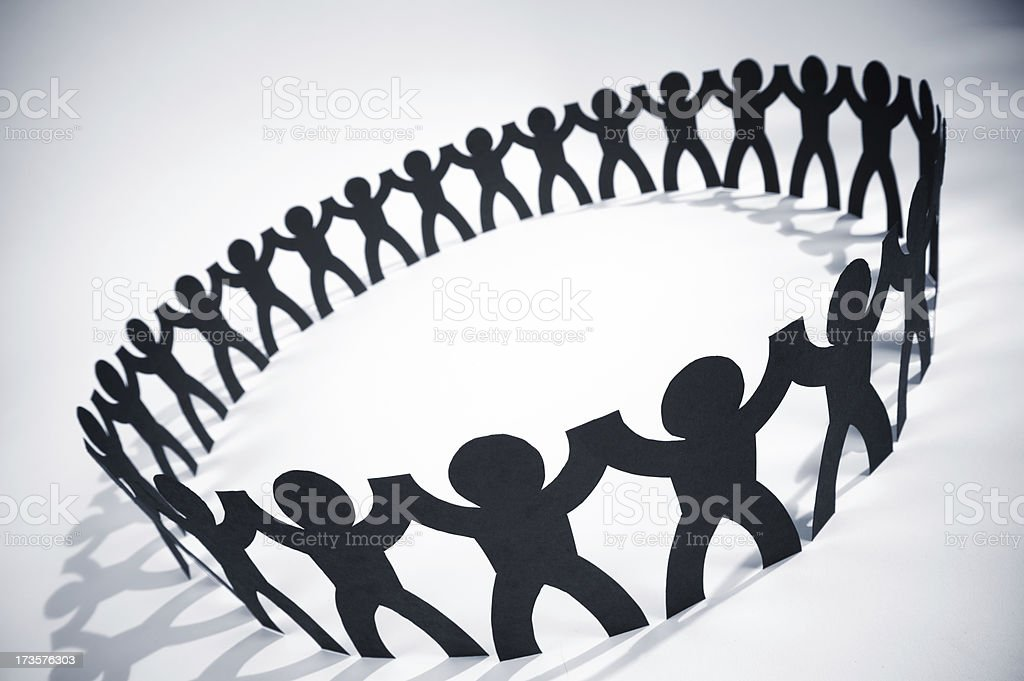 circle of workers royalty-free stock photo