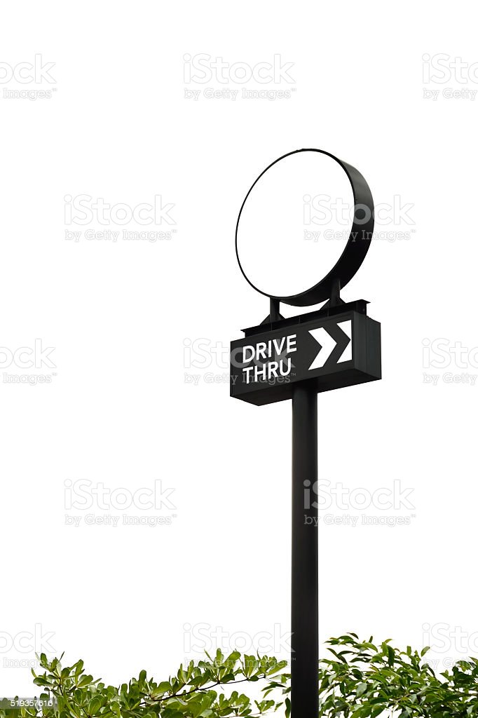 circle pole sign stock photo