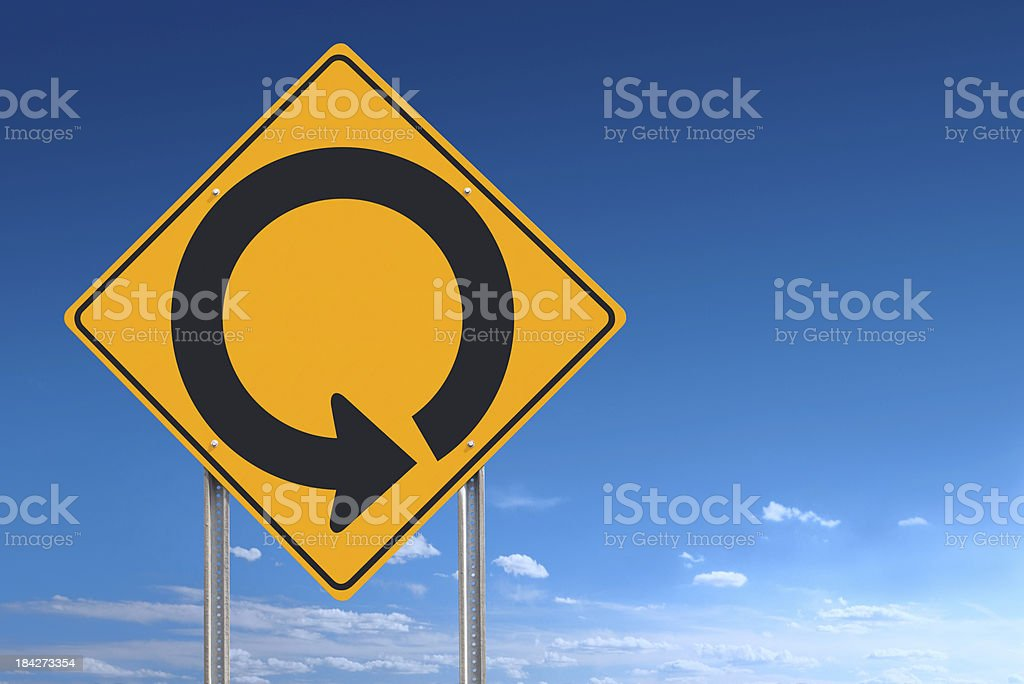Circle Road Sign stock photo