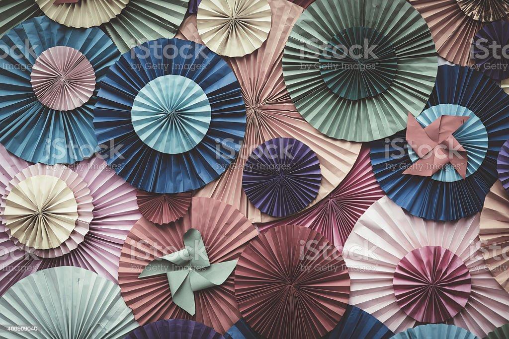 Circle shape Folding paper stock photo