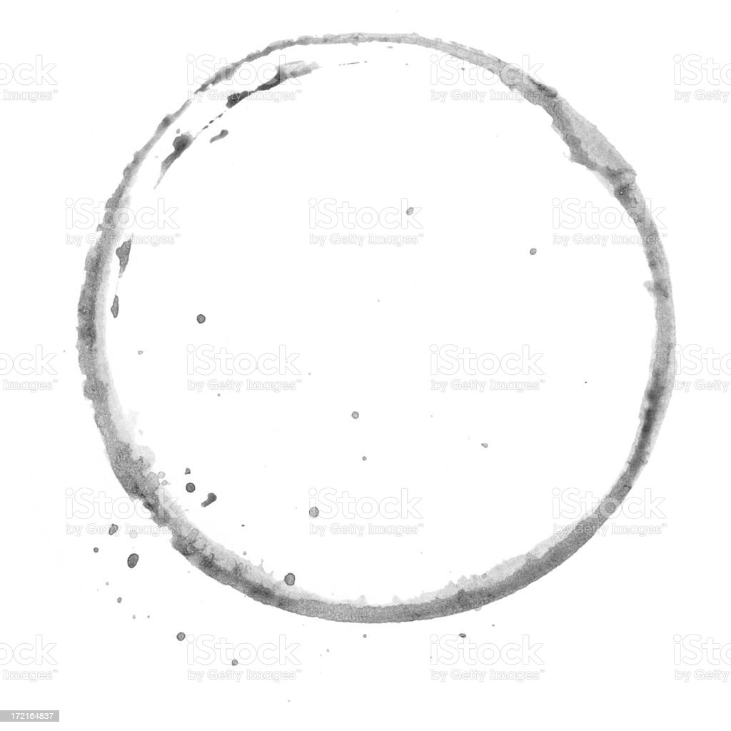 Circle stained royalty-free stock photo