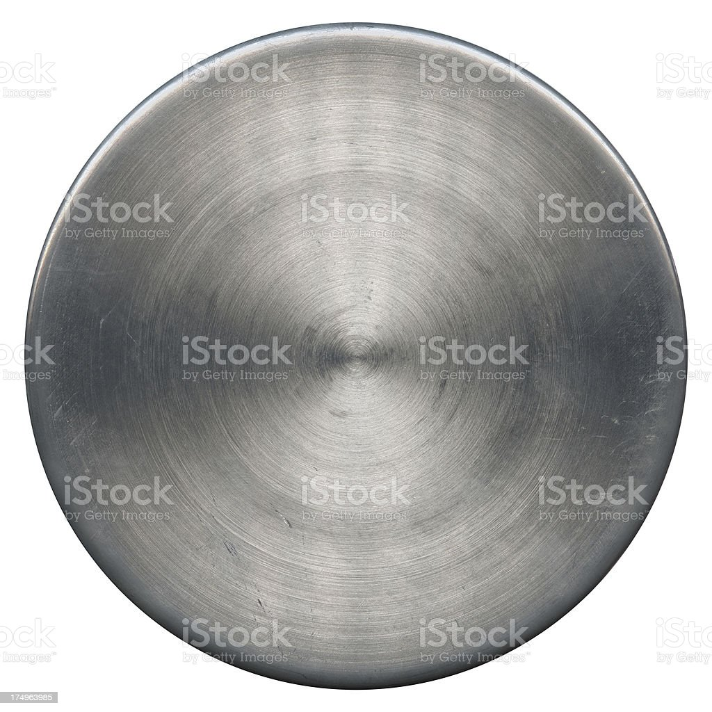 Circle Stainless Steel (Clipping Path) stock photo