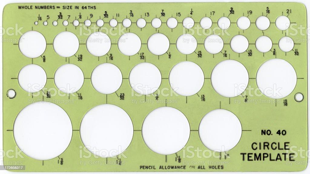 Circle template stock photo