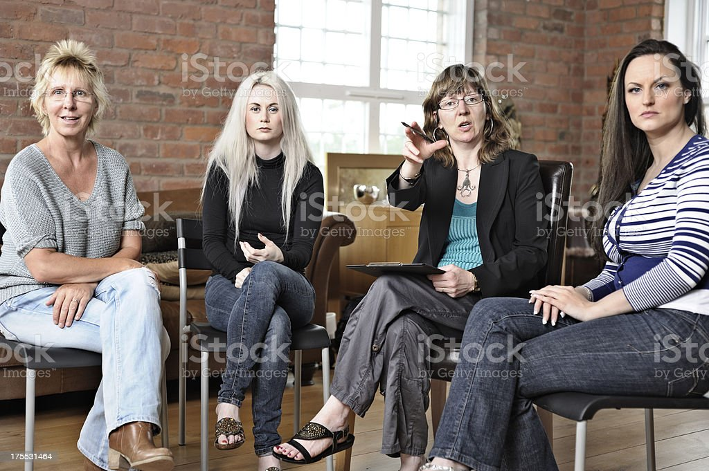 Circle therapy for women royalty-free stock photo