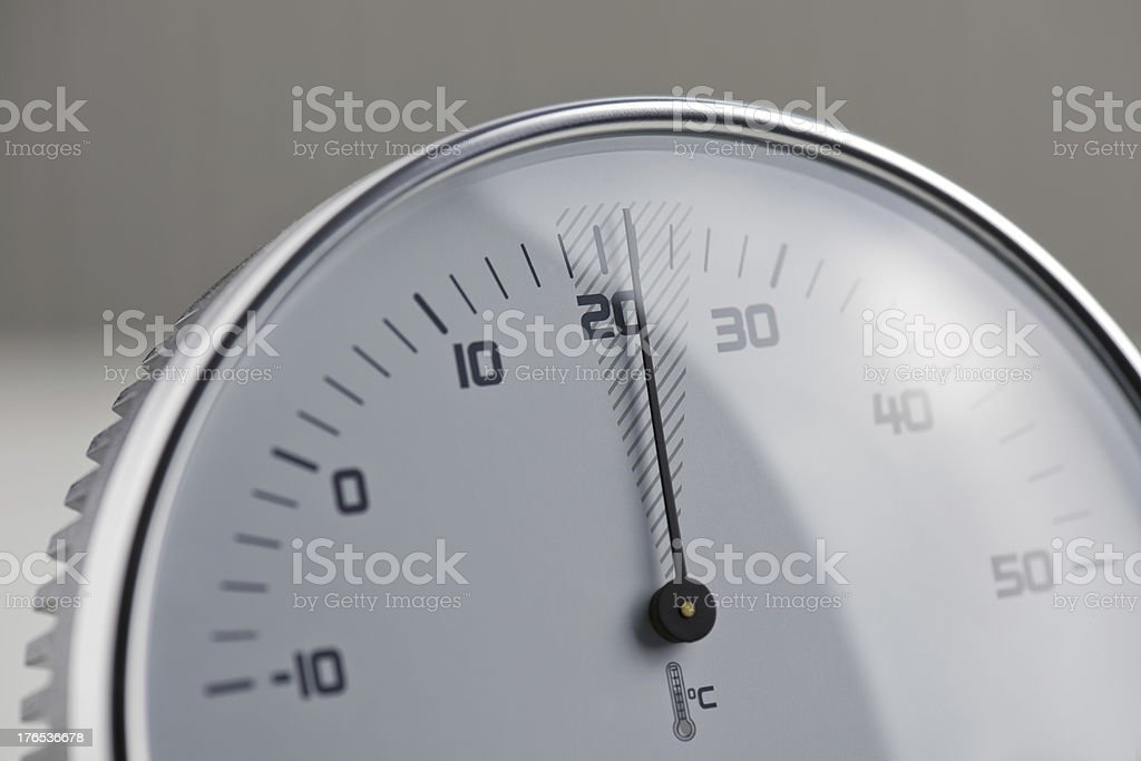 Circle thermometer royalty-free stock photo