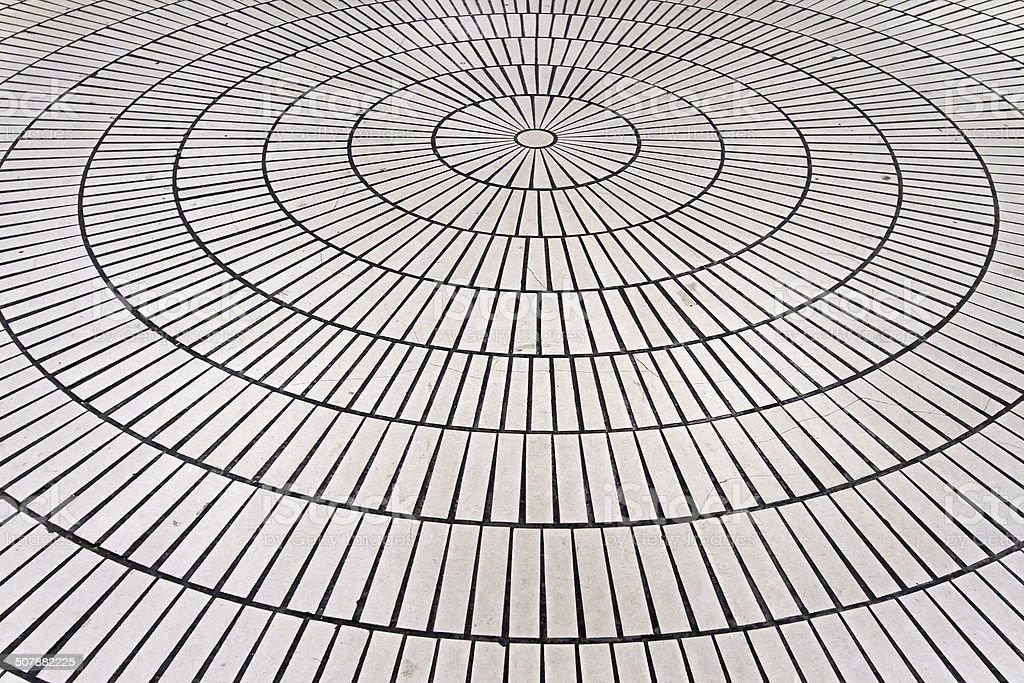 Circle tiles stock photo